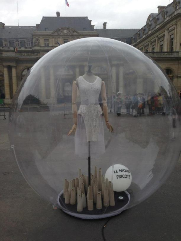 Fashion in a bubble.