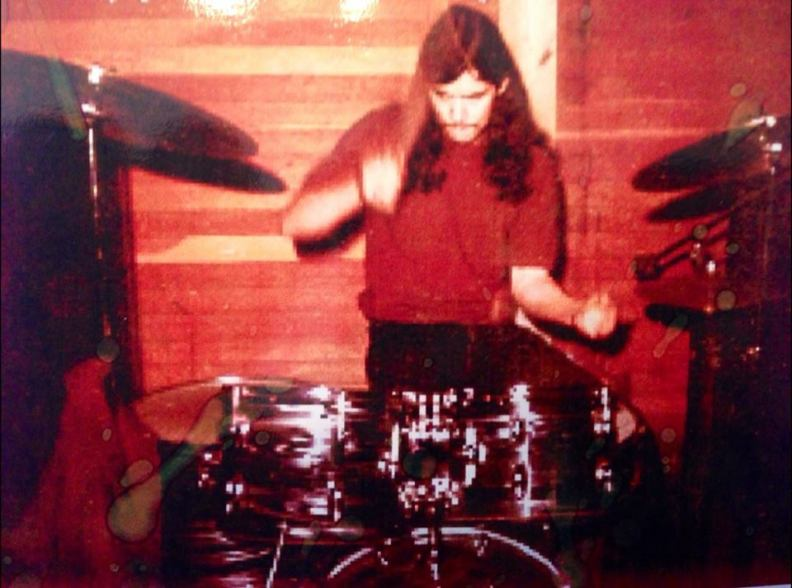 Dad playing the drums